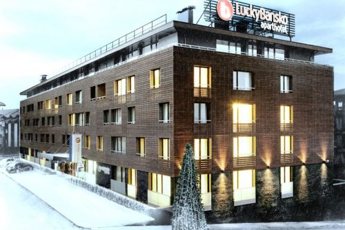 Outside facade of the hotel | Lucky Bansko SPA & Relax