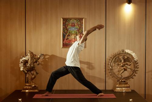 "Yoga Pose ""Warrior"""