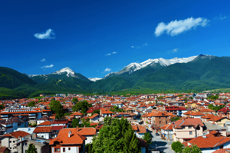 Beautiful views of the mountains in Bansko