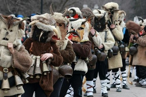 Kukeri masked in suits | Lucky Bansko SPA & Relax