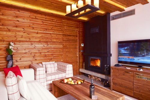 Presidential apartment fireplace | Lucky Bansko SPA & Relax